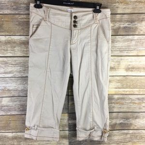 Cache Tan With Brown Corduroy Capris / Crop Size10